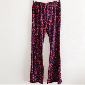 Floral Boho Festival High Waist Flare Leggings